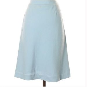 Ann Taylor Wool Light Blue Skirt